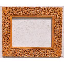 Rama drewniana - klasyczna - ruda z kratką