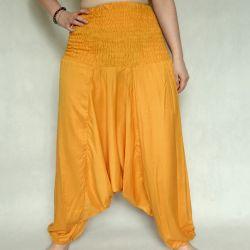 Spodnie szarawary - żółty rayon