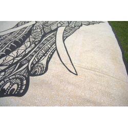 Narzuta bawełniana - czarny słoń