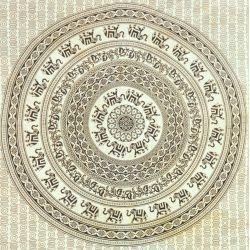 Narzuta bawełniana - mandala - czarna karawana