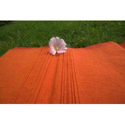 Bawełna ręcznie tkana - przejrzała pomarańcza