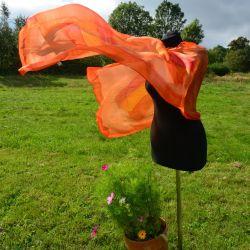Woal jedwabny - pomarańczowa impresja