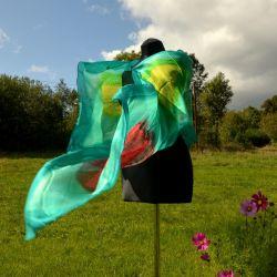 Woal jedwabny - zielona impresja II