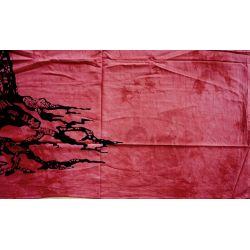 Narzuta bawełniana - mądre drzewo - malina