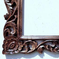 Rama drewniana - mahoniowe zarośla - połysk