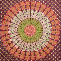 Obrus - makata - bordowa mandala