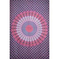 Obrus - makata - jasnofioletowa mandala