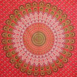 Obrus - makata - czerwona mandala