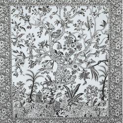Narzuta bawełniana - drzewo życia - biały