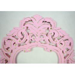Rama drewniana - klasyczna z talią - róż