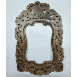 Rama drewniana - klasyczna z talią - brązowa patyna