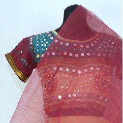 Gopi dress - komplet Bollywood - brunatny