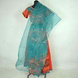 Gopi dress - komplet Bollywood - pomarańczowy