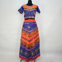 Gopi dress - komplet Bollywood - granatowy