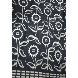 Sari bawełniane - czarne na łące
