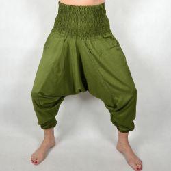 Spodnie szarawary - oliwkowy rayon