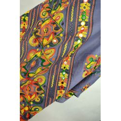 Szal indyjski - bawełniana dupata - szary
