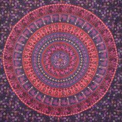Obrus - mandala - fioletowa procesja