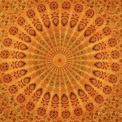 Obrus - duża mandala - dynia
