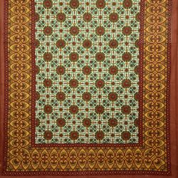Obrus - makata - rude kwiaty