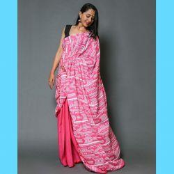 Sari bawełniane - różowy