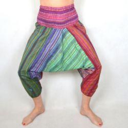 Spodnie szarawary - z zielonym