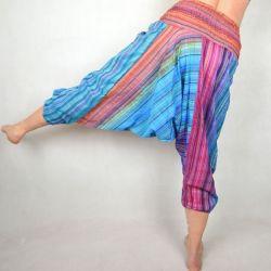 Spodnie szarawary - z różem
