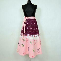 Spódnica indyjska  kopertowa - krótka - ręcznie malowana