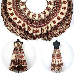 Spódnica z koła - indyjska kopertowa - Rajasthan
