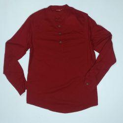 Koszula męska - brunatna bawełna