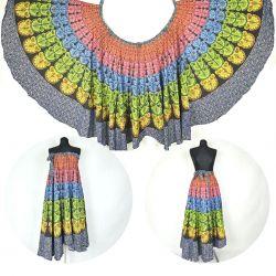 Spódnica z koła - indyjska kopertowa - tęczowa