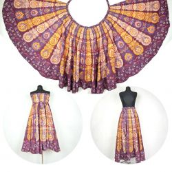 Spódnica z koła - indyjska kopertowa - wiśniowa II