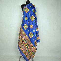 Szal indyjski - bawełniana dupata - chaber