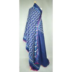 Sari bawełniane - blady niebieski