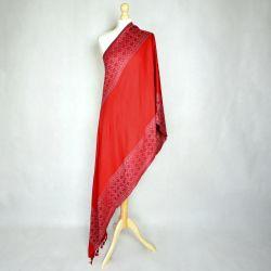 Szal indyjski - piękna czerwień