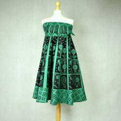 Spódnica indyjska kopertowa - krótka - zielona