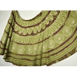 Spódnica indyjska  kopertowa - długa - impresja khaki
