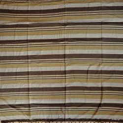 Narzuta bawełniana - pasy - brązy