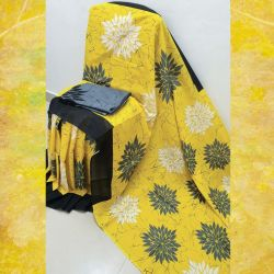 Sari bawełniane - żółty marmur