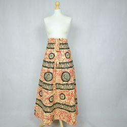 Spódnica indyjska  kopertowa - długa - czerwony marmur
