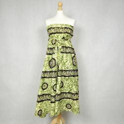 Spódnica indyjska kopertowa - długa - zielony marmur