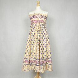 Spódnica indyjska  kopertowa - długa - łąka z różem