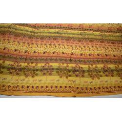 Narzuta - makata ręcznie tkana - żółta plaża