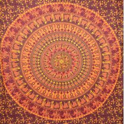 Narzuta bawełniana - mandala - procesja - renkloda