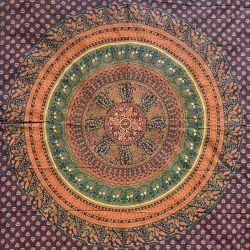 Narzuta bawełniana - kopuła w kropki - sosna