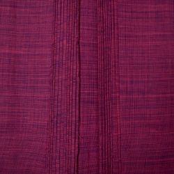 Bawełna ręcznie tkana - cyklamenowy melanż
