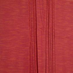 Bawełna ręcznie tkana - karmazynowy melanż