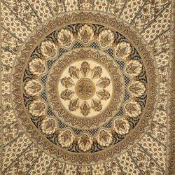 Narzuta bawełniana - mandala z rozetą - rudy