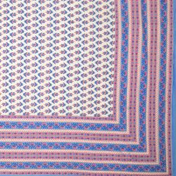 Narzuta bawełniana - niebieska łąka
