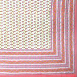 Narzuta bawełniana - różowa łąka